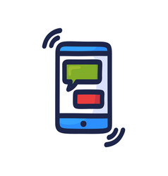 Online chat concept talk application logo mobile vector