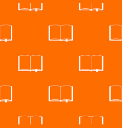 open book with bookmark pattern seamless vector image