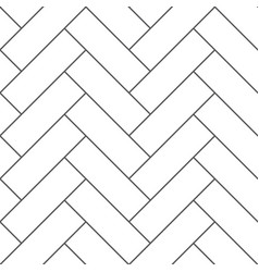 Outline vintage wooden floor herringbone parquet vector