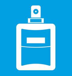 perfume icon white vector image