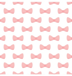 Pink bows on white background seamless pattern vector image