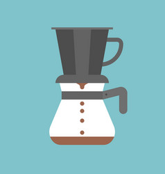 pour over coffee maker vector image