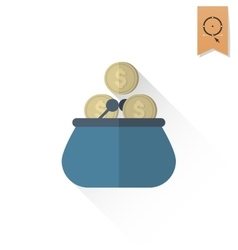 Purse and Coins vector
