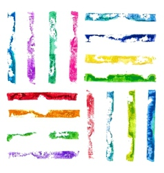 rectangular paint stamps vector image