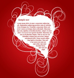 red romantic background with heart vector image