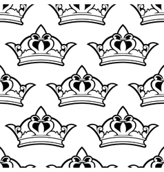 Royal crown seamless pattern vector image