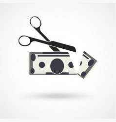 scissors cut money vector image