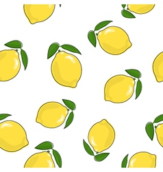 Seamless Pattern of Lemon vector