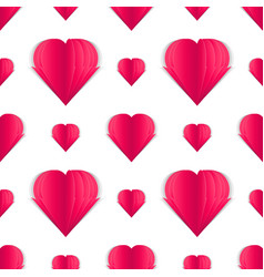 seamless pattern of paper hearts idea for your vector image