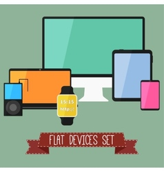 set modern business ui devices vector image