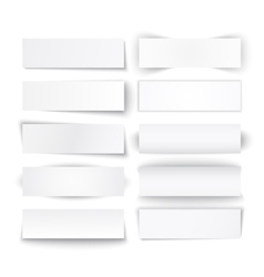 Set of white paper banners vector image vector image