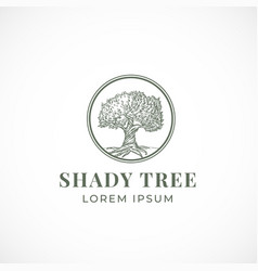 shady tree abstract sign symbol or logo vector image