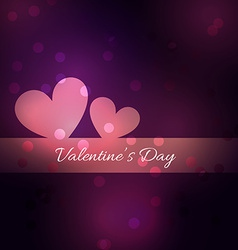 simple and beautiful valentine day background vector image