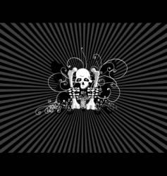 Skulls wallpaper vector