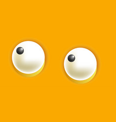Smiley eyes isolated cartoon vector