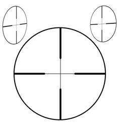 Sniper aim icon black on white vector