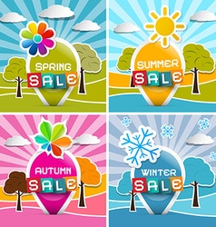 Spring - Summer - Autumn - Winter Sale Four vector