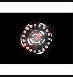 Technological abstract red light interface vector