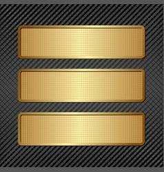 Three plaques vector