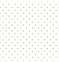 Tile pattern green polka dots white background vector