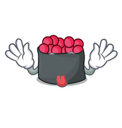 tongue out ikura mascot cartoon style vector image