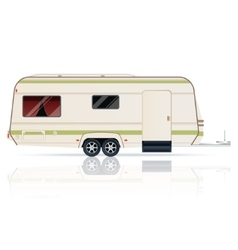 Trailer on the white background vector