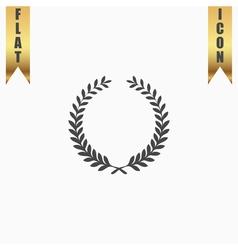 Victory laurel wreath vector image