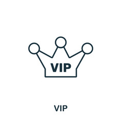 vip outline icon thin line concept element from vector image