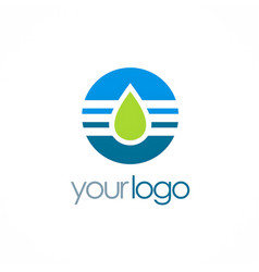 water drop technology logo vector image