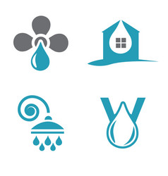 water logotypes vector image