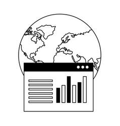 world website report document data vector image