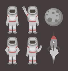 astronauts characters set vector image vector image