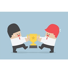 Businessmen fight for the trophy vector image