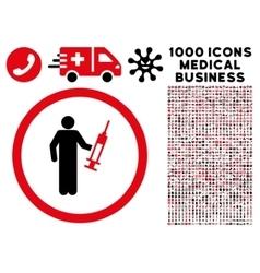 Drug dealer rounded icon with medical bonus vector
