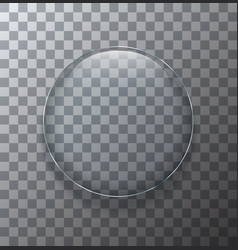 modern transparent circle glass plate vector image