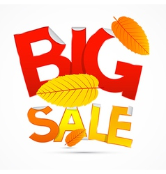 Red and Orange Big Sale Sticker - Label with vector image vector image