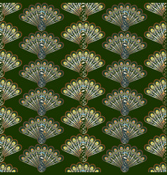 stylized peacocks seamless pattern vector image