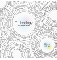 technology abstract background vector image vector image