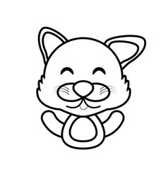 wolf animal toy outline vector image vector image