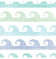 Abstract textile waves stripes seamless pattern vector image
