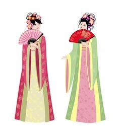 Chinese girls vector
