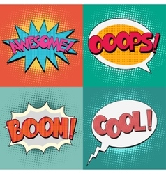 Comic book bubble text vector