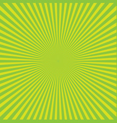 green-yellow color burst background of light rays vector image