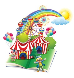 A storybook about the carnival vector image vector image