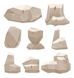 Cartoon Game Stones vector image