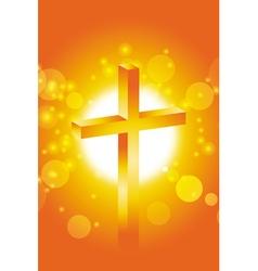easter jesus cross background 2 vector image