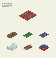 isometric competition set of tennis ice games vector image vector image