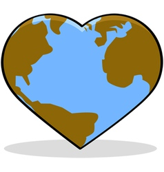 Love the Earth vector image vector image
