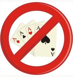 No Gambling cards vector image