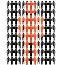 people stick figure background vector image vector image